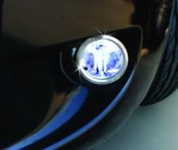 Накладки на противотуманки нижняя модель (2 шт, нерж.) Citroen Nemo 2008