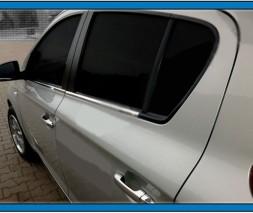 Нижние молдинги стекол (6 шт., нерж) Hyundai I-20 2008-2012