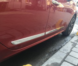 Молдинг дверной (4 шт, нерж) Peugeot 208