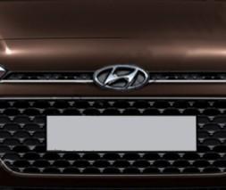 Накладки на решетку (2 шт, нерж) Hyundai I-20 2014-2018