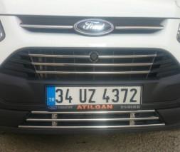 Цельная нижняя решетка (нерж) Ford Custom 2013