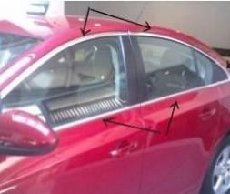 Полная окантовка стекол (для версии Sedan, нерж.) Chevrolet Cruze 2009