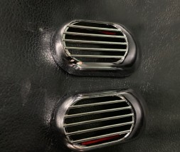Решетка на повторитель `Овал` (2 шт, ABS) Daihatsu Sirion 2005