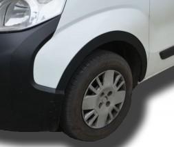 Накладки на арки (4 шт, черные) Fiat Fiorino/Qubo 2008
