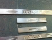 Накладка на пороги Carmos (4 шт, нерж) Mazda 6 2008-2013