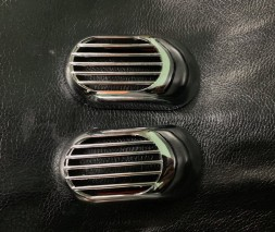 Решетка на повторитель `Овал` (2 шт, ABS) для Audi 80/90 1987-1996 гг.
