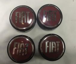Fiat Bravo 2008↗ гг. Колпачки в титановые диски 55 мм (4 шт)