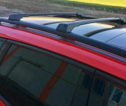 Honda Jazz III 2009-2013 гг. Перемычки на рейлинги без ключа (2 шт) Черный