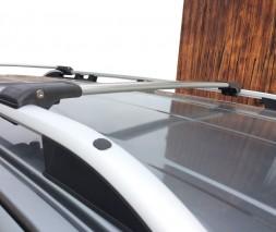 Mitsubishi Grandis 2005↗ гг. Перемычки на обычные рейлинги под ключ (2 шт) Серый