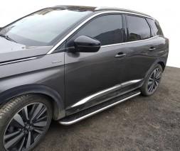 Opel Mokka 2012↗ гг. Боковые пороги Maydos V2 (2 шт, алюминий -2021 нерж)