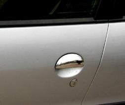 Toyota Aygo 2007-2014 гг. Накладки на ручки (2 шт, нерж)