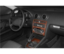 Audi A3 2004-2012 гг. Декоративные накладки салона (Мерич) Темное дерево