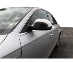 Audi A4 B8 2007-2015 гг. Накладки на зеркала (2 шт., нерж.)