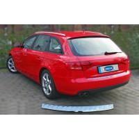 Накладка на задний бампер OmsaLine (AVANT, нерж.) OmsaLine - Итальянская нержавейка, Матовая для Audi A4 B8 2007-2015
