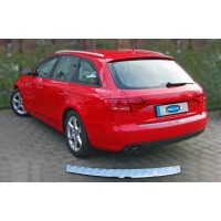 Накладка на задний бампер OmsaLine (AVANT, нерж.) OmsaLine - Итальянская нержавейка, Глянцевая для Audi A4 B8 2007-2015