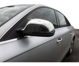 Audi A6 C6 2004-2011 гг. Накладки на зеркала 2008-2012 (2 шт., нерж)