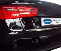 Audi A6 C7 2011-2017 гг. Кромка багажника (нерж.)