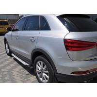 Боковые пороги Allmond (2 шт., алюминий) для Audi Q3 2011-2019