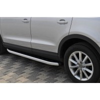 Боковые пороги Fullmond (2 шт., алюминий) для Audi Q3 2011-2019