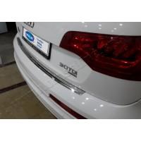 Накладка на задний бампер OmsaLine (нерж.) для Audi Q7 2005-2015