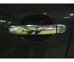 Audi Q7 2005-2015 гг. Накладки на ручки (4 шт, нерж.) Турецкая сталь, с чипом