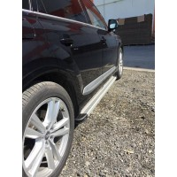 Audi Q7 2015+ Боковые пороги Maya V2 (2 шт., алюминий)