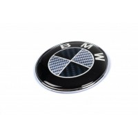 Эмблема Карбон, Турция d82.5 мм, самоклейка-2021шайбы для BMW 1 серия E81/82/87/88 2004-2011