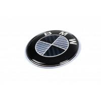 Эмблема Карбон, Турция d82.5 мм, самоклейка-2021шайбы для BMW 1 серия F20/21 2011+