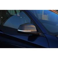 Накладки на зеркала (2 шт, натуральный карбон) для BMW 1 серия F20/21 2011+