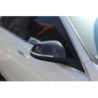 Накладки на зеркала (2 шт, натуральный карбон) для BMW 4 серия F-32 2012+