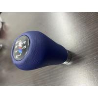 Ручка КПП ОЕМ (кожзам, синяя гладкая) для BMW 5 серия E-34 1988-1995