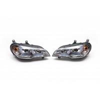 Передние фары (2 шт, светлые) для BMW X5 E70 2007-2013
