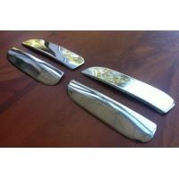 Накладки на верхушки ручек (2 шт, пласт) для Chevrolet Aveo T200 2002-2008