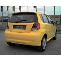 Накладка на задний бампер (под покраску) для Chevrolet Aveo T200 2002-2008