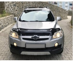 Chevrolet Captiva 2006↗ и 2011↗ гг. Дефлектор капота 2006-2011 (EuroCap)