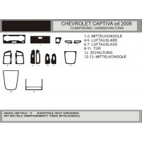 Chevrolet Captiva 2006+ и 2011+ гг. Накладки на панель (Hartman) Орех