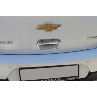 Накладка на ручку багажника (для версии HB, нерж.) Carmos - Турецкая сталь для Chevrolet Cruze 2009+