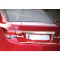 Накладка на кромку багажника (нерж.) HB, Carmos - Турецкая сталь для Chevrolet Cruze 2009+
