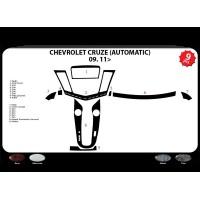Chevrolet Cruze 2009+ гг. Накладки на панель (автомат) Дерево