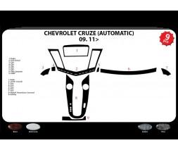 Chevrolet Cruze 2009↗ гг. Накладки на панель (автомат) Дерево