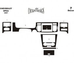 Chevrolet Epica 2006+ гг. Накладки в салон (MERIC) Темное дерево