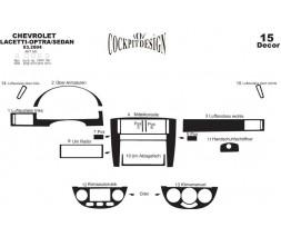 Chevrolet Lacetti Накладки на панель Sedan (Meric) Алюминий