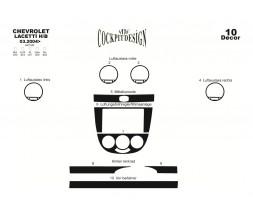 Chevrolet Lacetti Накладки на панель Hatchback (Meric) Алюминий