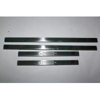 Накладки на пороги Узкие (4 шт, нерж) для Chevrolet Lacetti