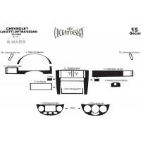 Накладки на панель Sedan (Meric) Карбон для Chevrolet Lacetti