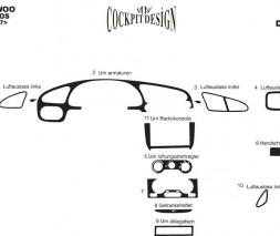 Chevrolet Lanos Накладки на панель Алюминий
