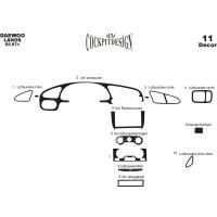 Chevrolet Lanos Накладки на панель Титан