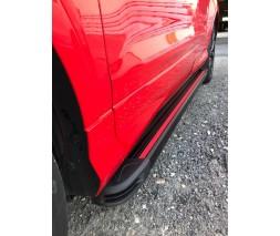Chevrolet Niva Боковые пороги Maya Red (2 шт., алюминий)