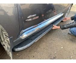 Chevrolet Niva Боковые пороги Bosphore Grey (2 шт., алюминий)