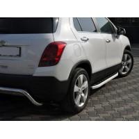 Боковые пороги Fullmond (2 шт., алюминий) для Chevrolet Trax 2012+